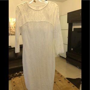 Cache white midi classic dress . Size: 8